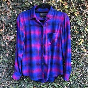 Rails Azure/Scarlet Hunter Plaid Shirt Size XS